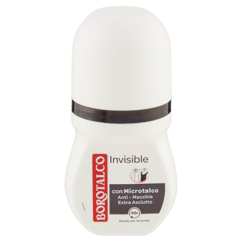 Borotalco Invisible Deodorante Roll On 0% Alcool 50 ml