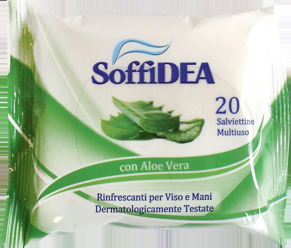 Soffidea Salviette Rinfrescanti con Aloe Vera 20 Pezzi